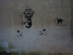 Some graffiti the Sandman found picture worthy